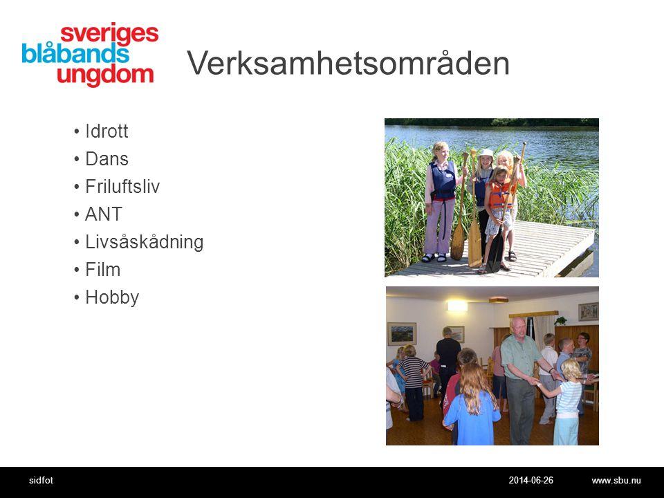 Verksamhetsområden Idrott Dans Friluftsliv ANT Livsåskådning Film