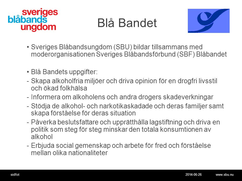 Blå Bandet Sveriges Blåbandsungdom (SBU) bildar tillsammans med moderorganisationen Sveriges Blåbandsförbund (SBF) Blåbandet.