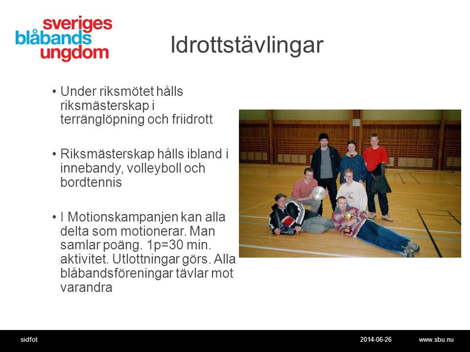 Idrottstävlingar Under riksmötet hålls riksmästerskap i terränglöpning och friidrott.