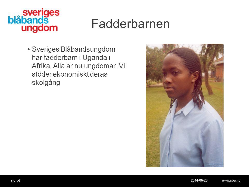 Fadderbarnen Sveriges Blåbandsungdom har fadderbarn i Uganda i Afrika.