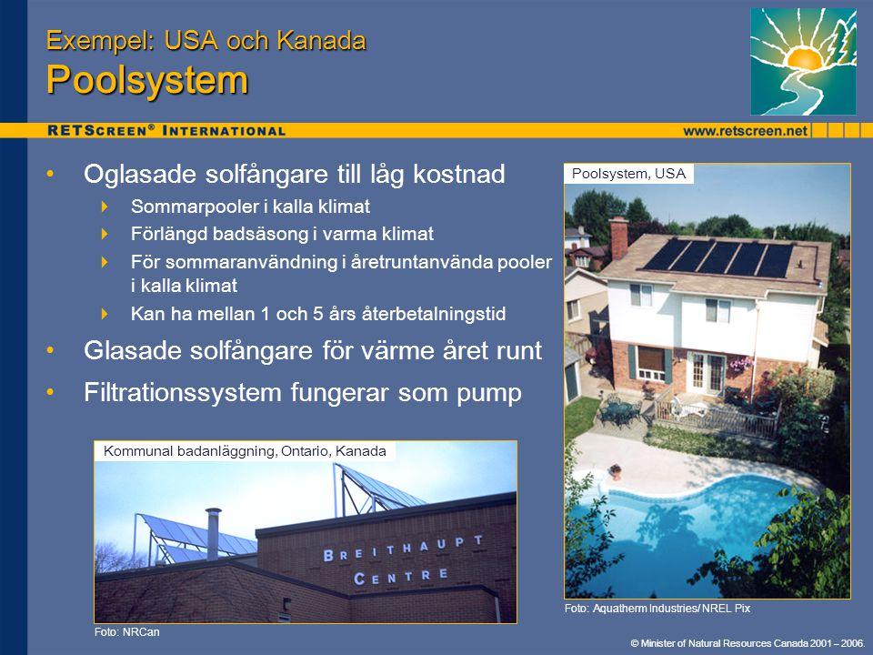 Exempel: USA och Kanada Poolsystem
