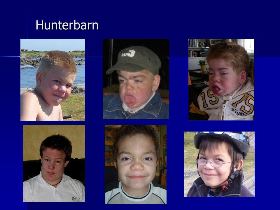 Hunterbarn Stort spektrum, En pojke är från Norge och trackeostomerad pga för trånga luftvägar.