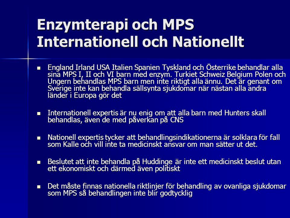 Enzymterapi och MPS Internationell och Nationellt