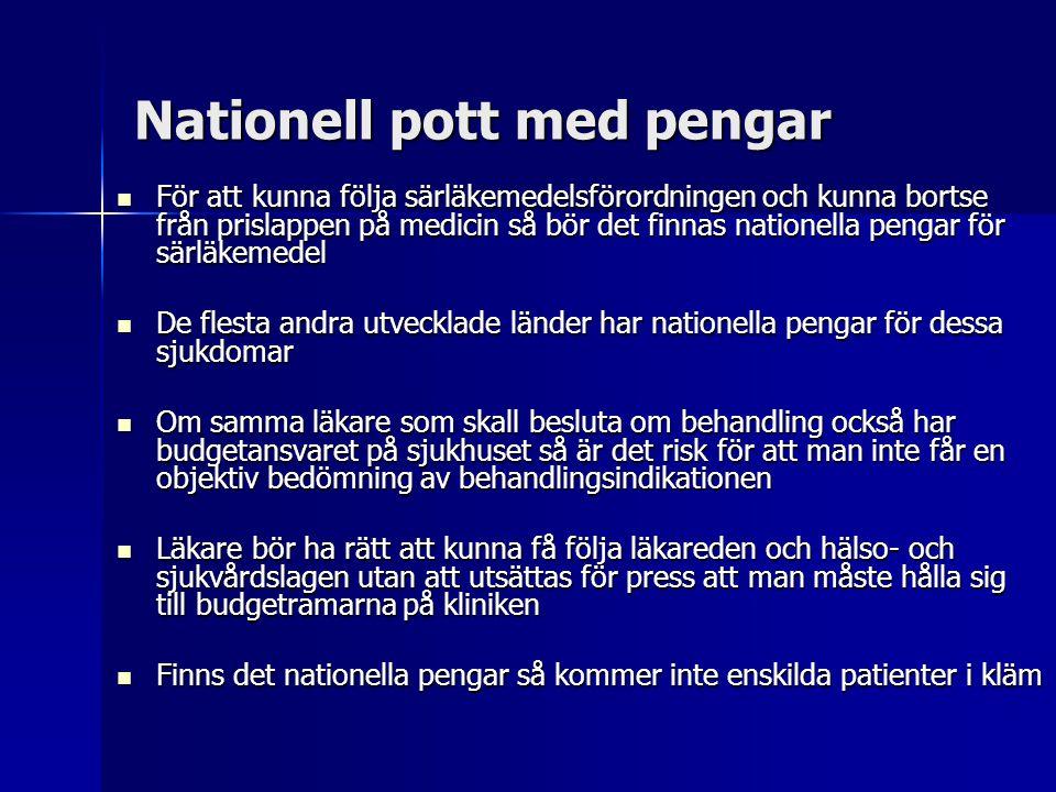 Nationell pott med pengar