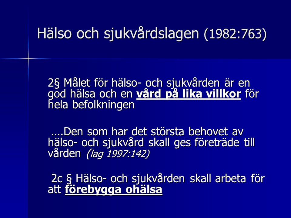 Hälso och sjukvårdslagen (1982:763)