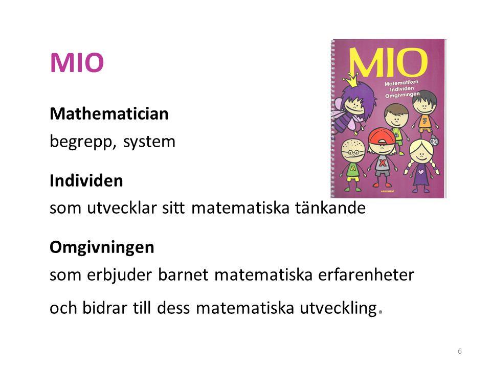 MIO Mathematician begrepp, system Individen