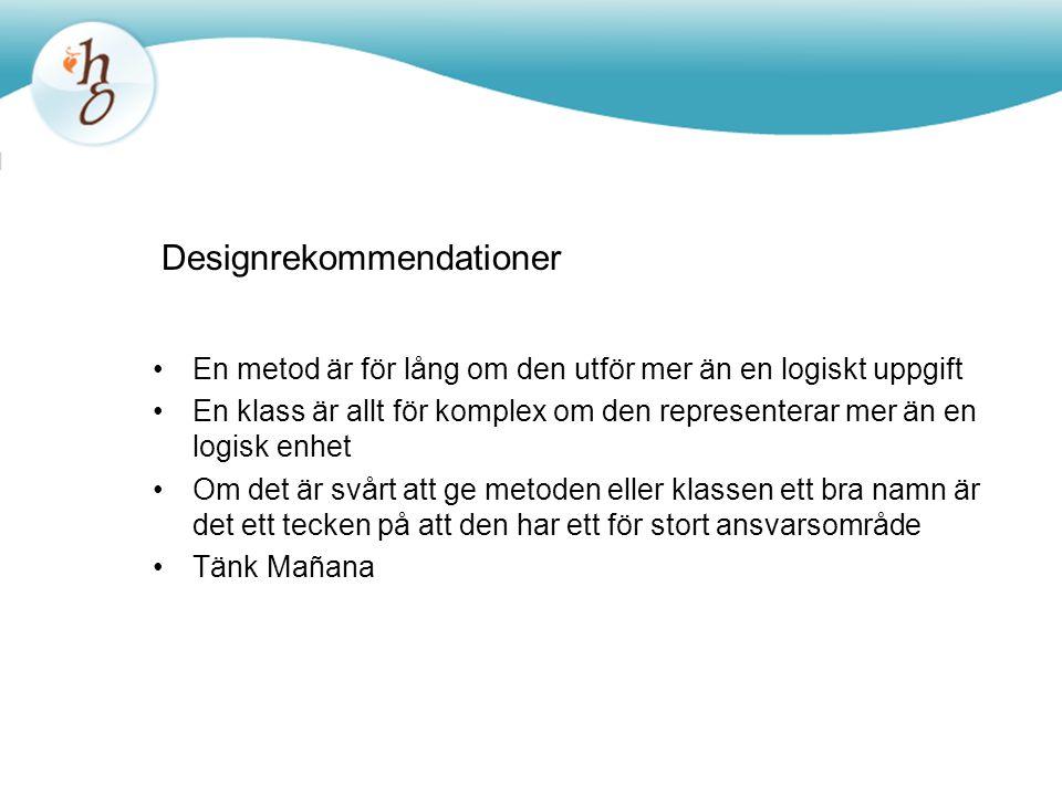 Designrekommendationer