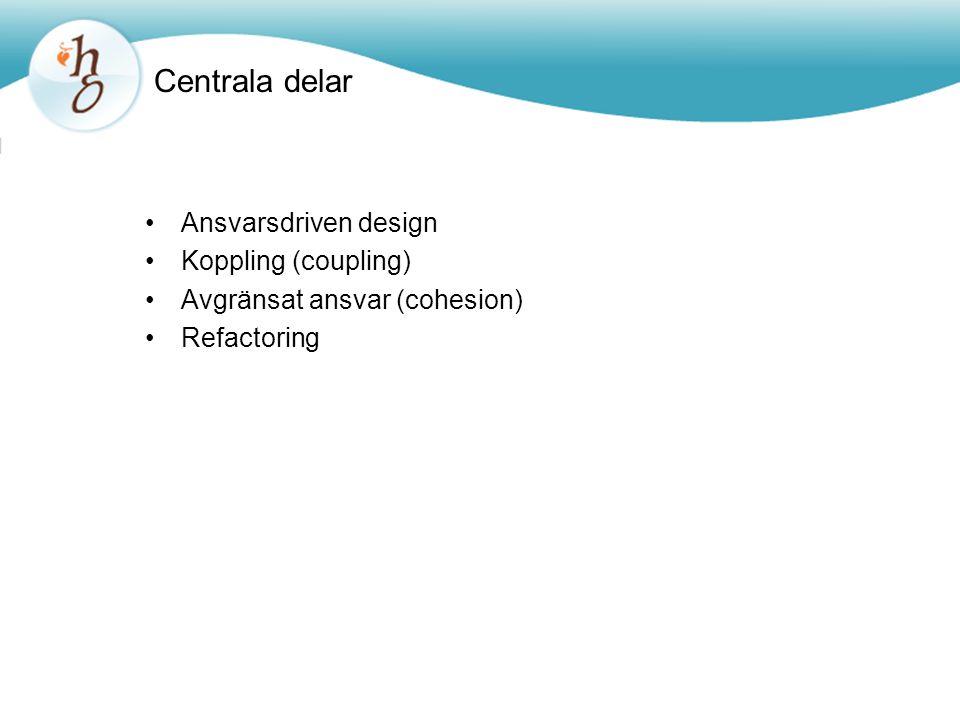 Centrala delar Ansvarsdriven design Koppling (coupling)