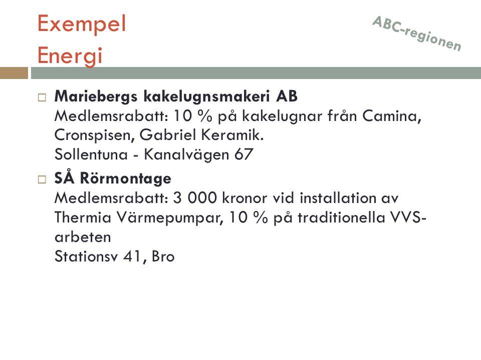 Exempel Energi ABC-regionen.