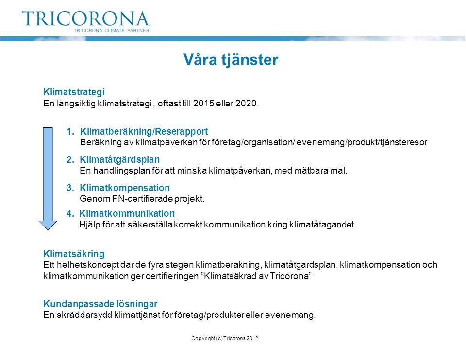 Copyright (c) Tricorona 2012