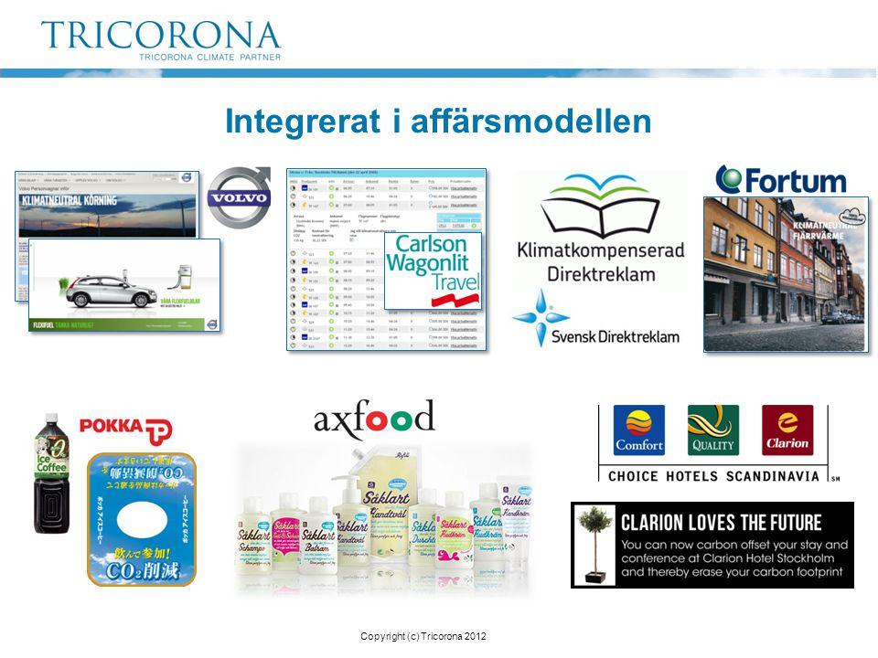 Integrerat i affärsmodellen