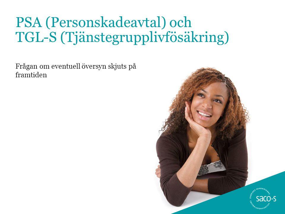 PSA (Personskadeavtal) och TGL-S (Tjänstegrupplivfösäkring)