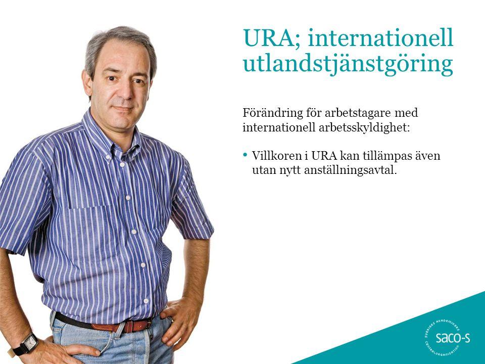 URA; internationell utlandstjänstgöring