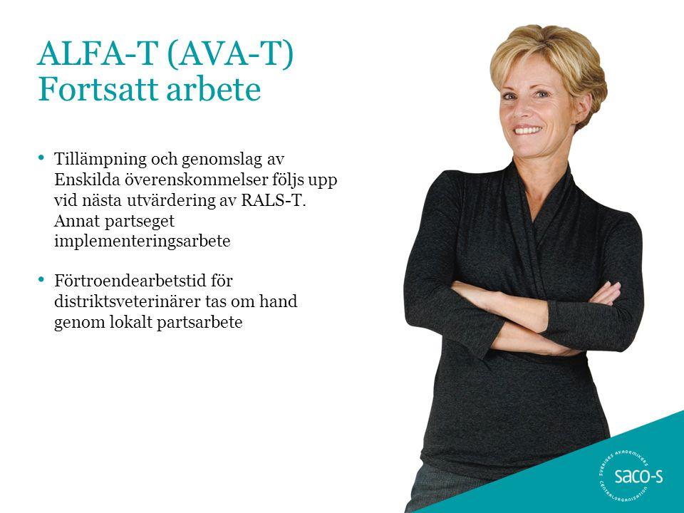 ALFA-T (AVA-T) Fortsatt arbete