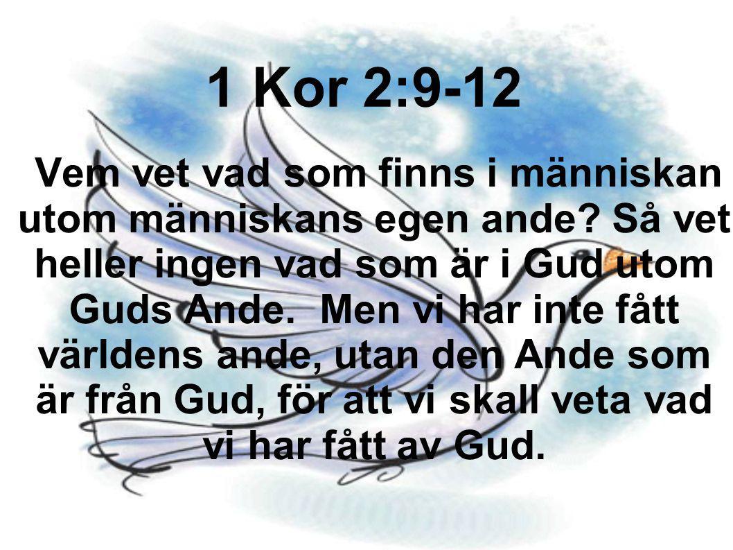 1 Kor 2:9-12
