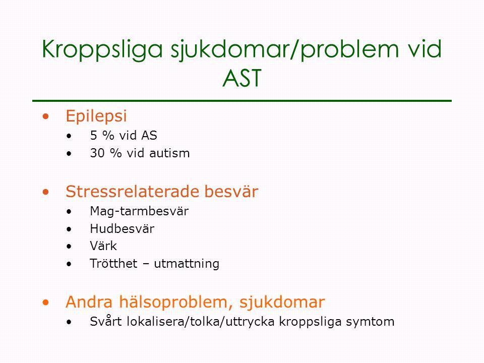 Kroppsliga sjukdomar/problem vid AST