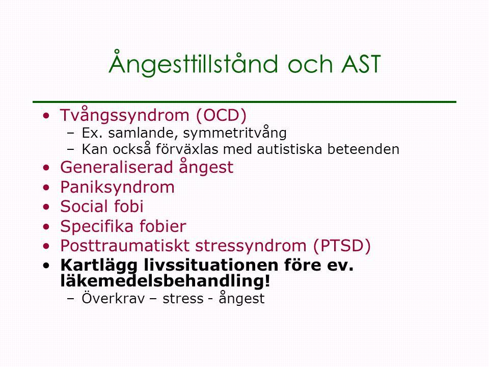 Ångesttillstånd och AST