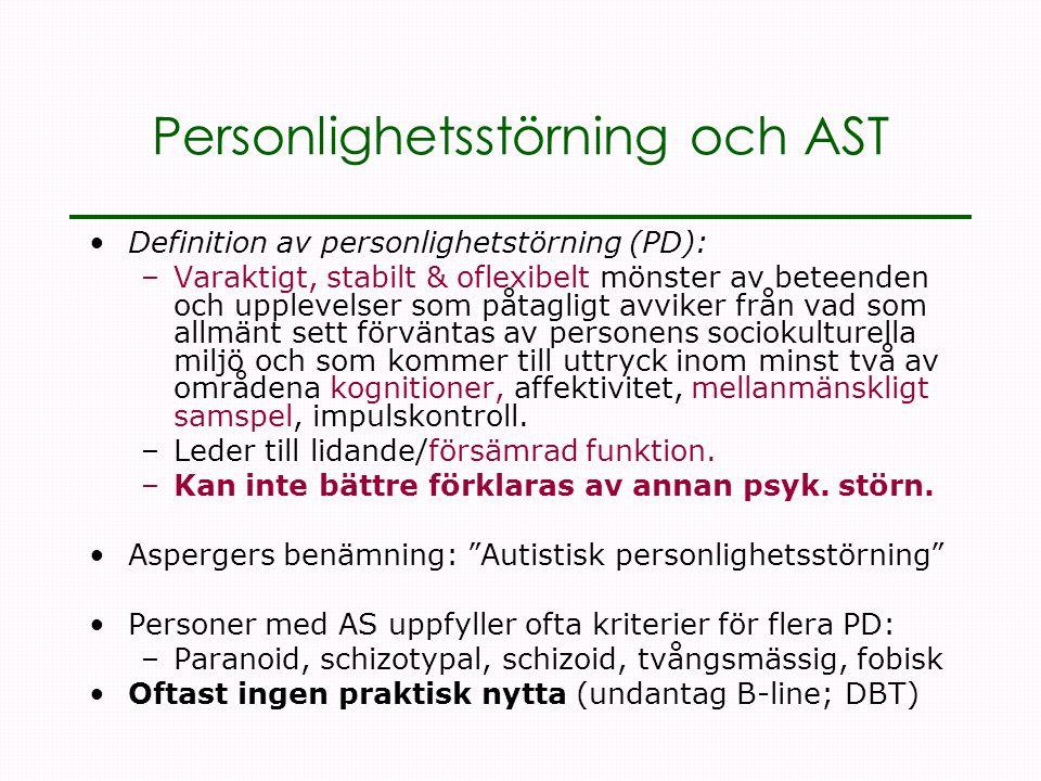 Personlighetsstörning och AST