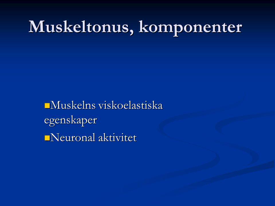 Muskeltonus, komponenter