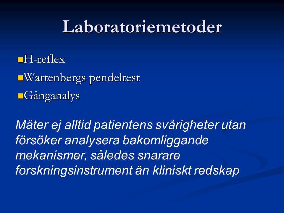 Laboratoriemetoder H-reflex Wartenbergs pendeltest Gånganalys