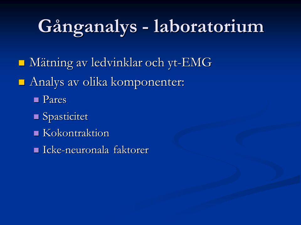Gånganalys - laboratorium