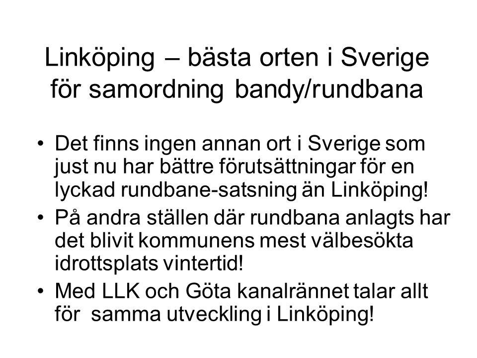 Linköping – bästa orten i Sverige för samordning bandy/rundbana