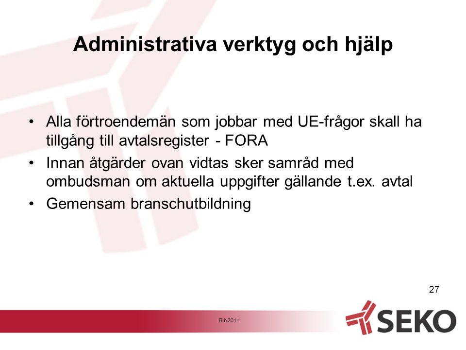 Administrativa verktyg och hjälp
