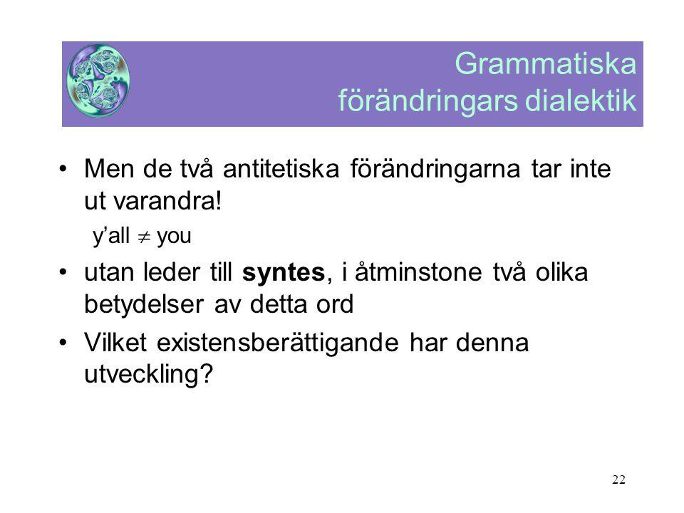 Grammatiska förändringars dialektik