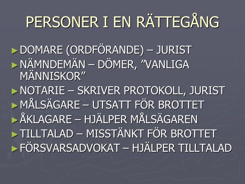 PERSONER I EN RÄTTEGÅNG