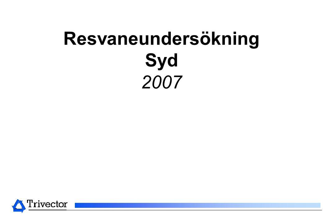 Resvaneundersökning Syd 2007