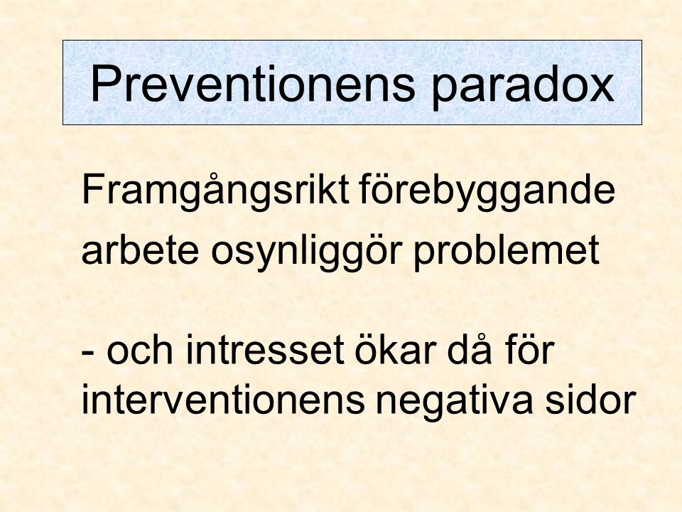 Preventionens paradox