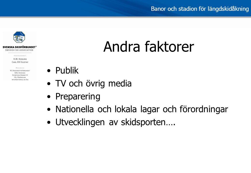 Andra faktorer Publik TV och övrig media Preparering