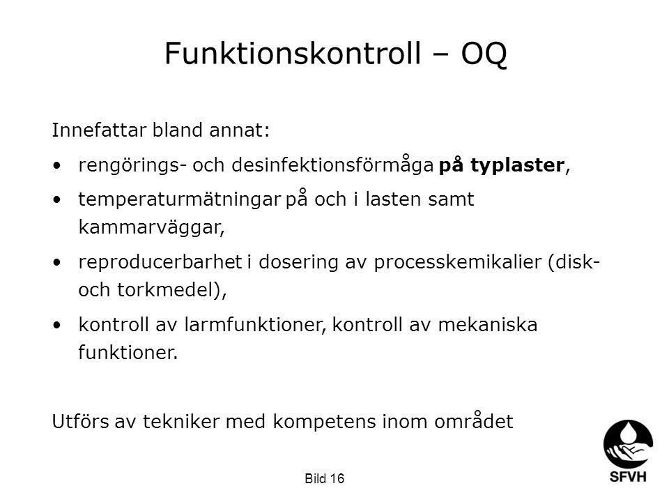 Funktionskontroll – OQ