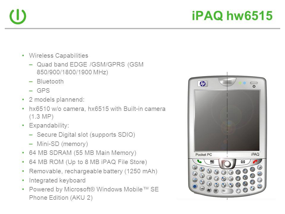 iPAQ hw6515 Wireless Capabilities