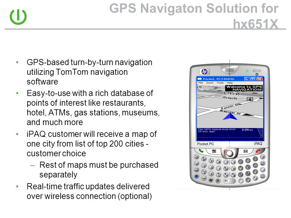 GPS Navigaton Solution for hx651X