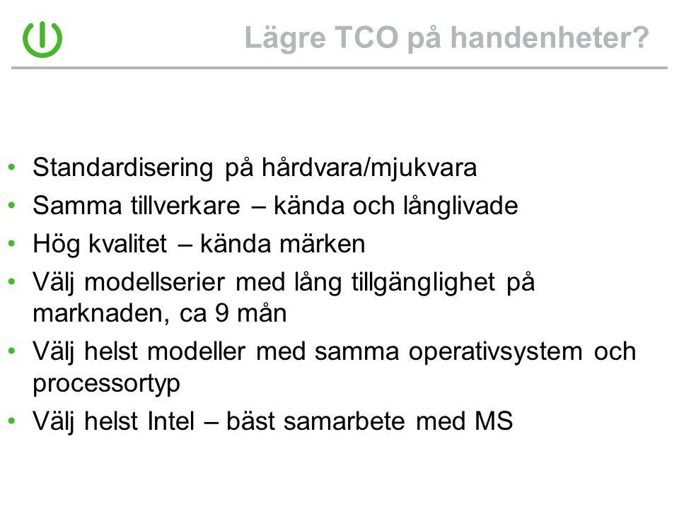 Lägre TCO på handenheter