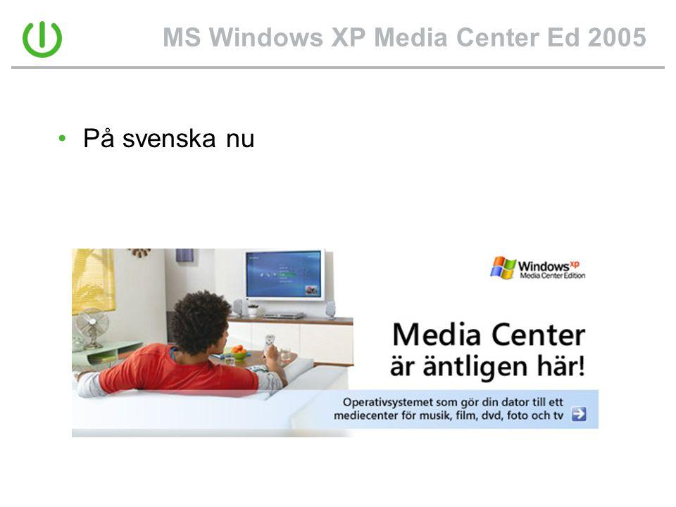 MS Windows XP Media Center Ed 2005