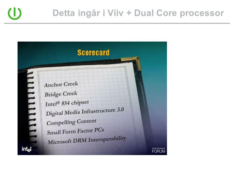 Detta ingår i Viiv + Dual Core processor