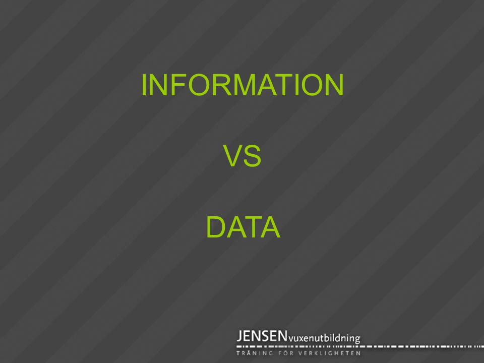 INFORMATION VS DATA