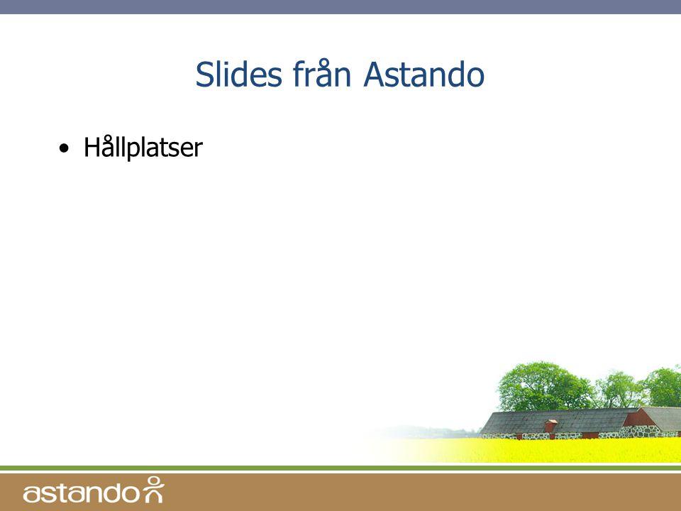 Slides från Astando Hållplatser