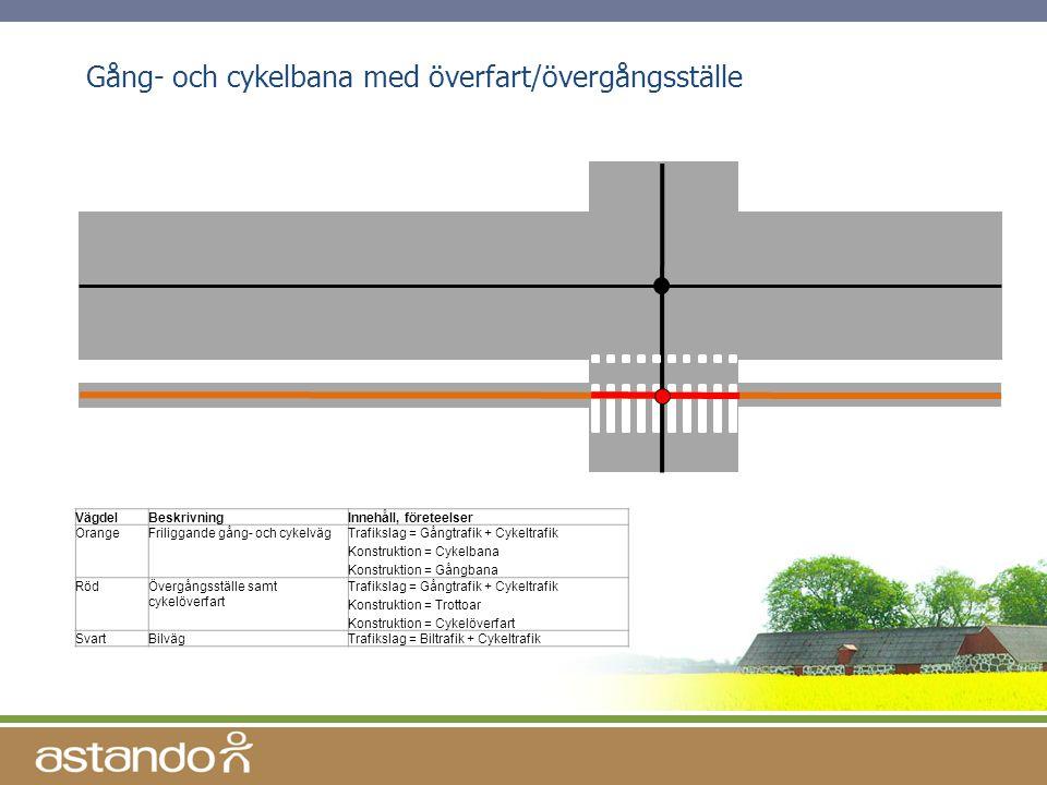 Gång- och cykelbana med överfart/övergångsställe