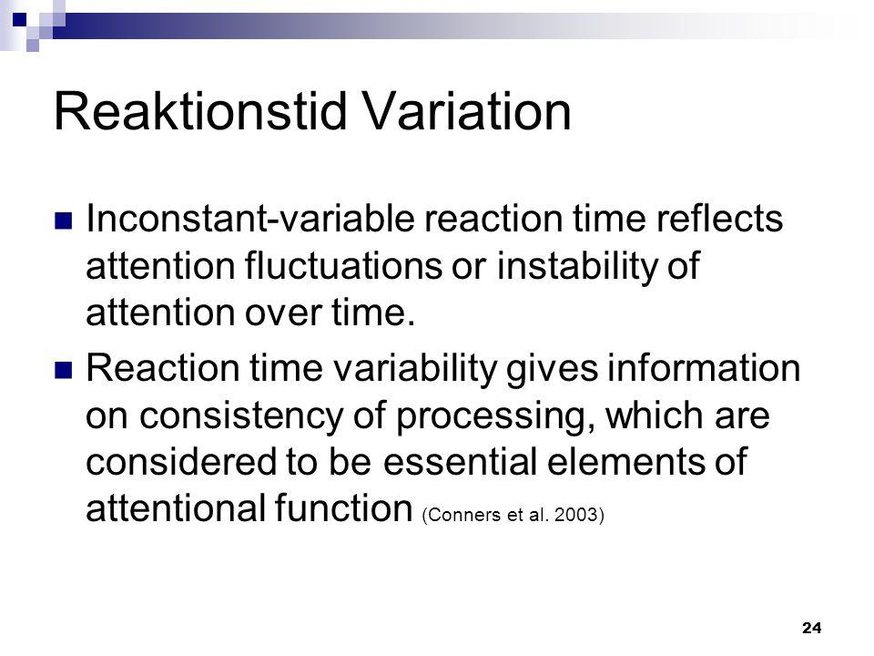 Reaktionstid Variation