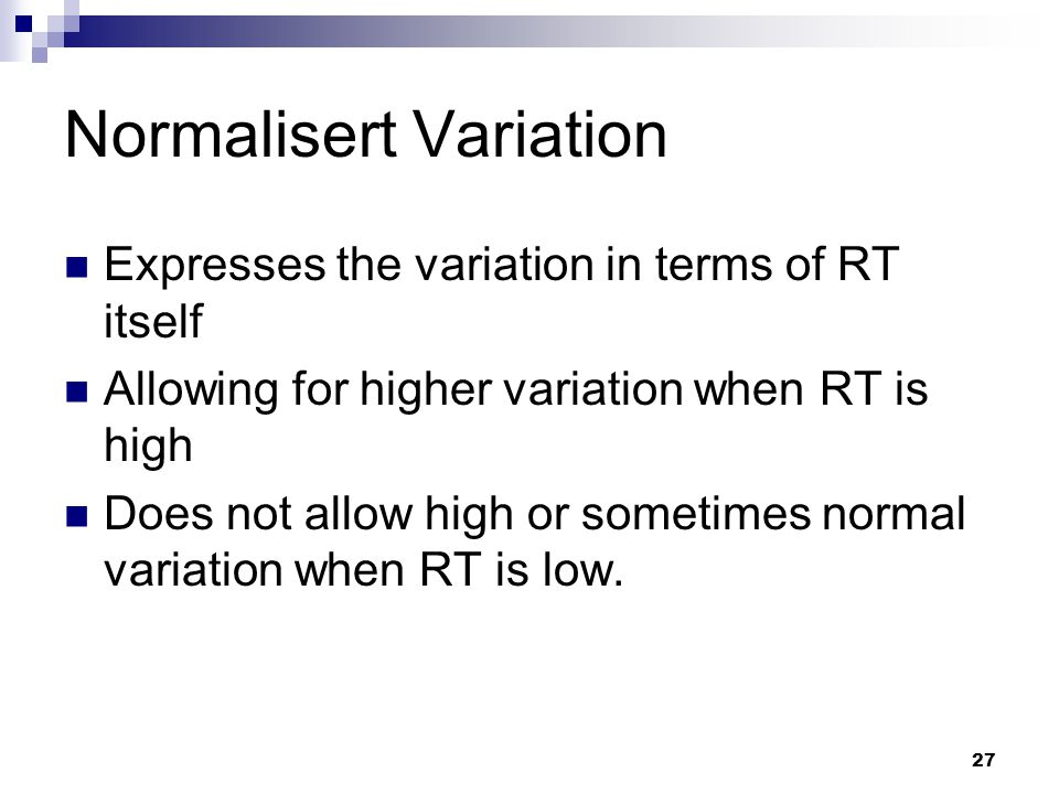Normalisert Variation