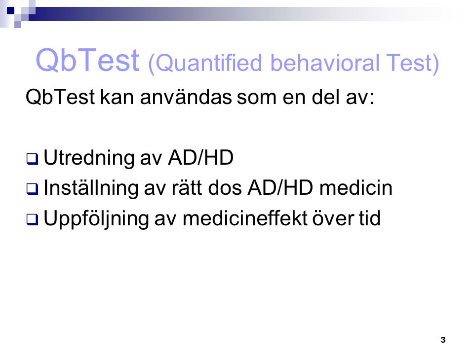 QbTest (Quantified behavioral Test)