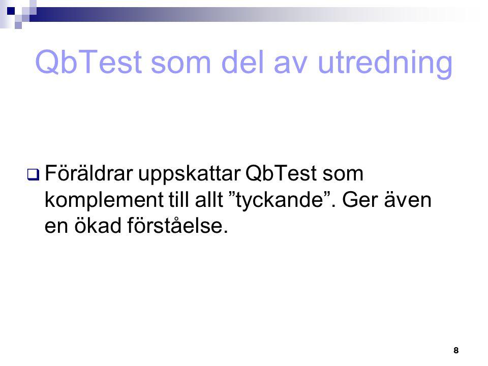 QbTest som del av utredning