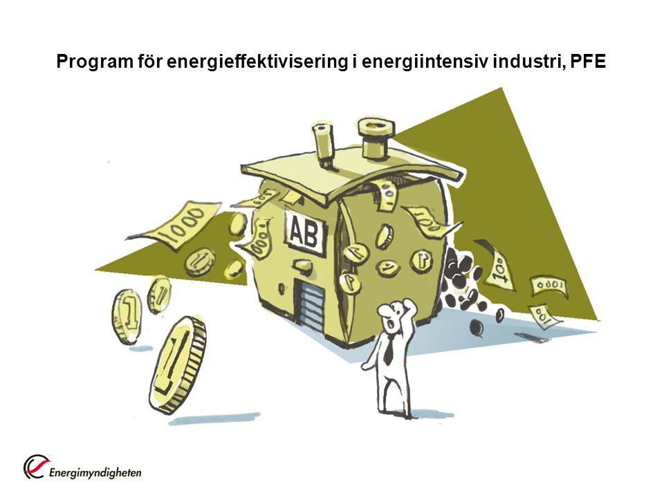 Program för energieffektivisering i energiintensiv industri, PFE