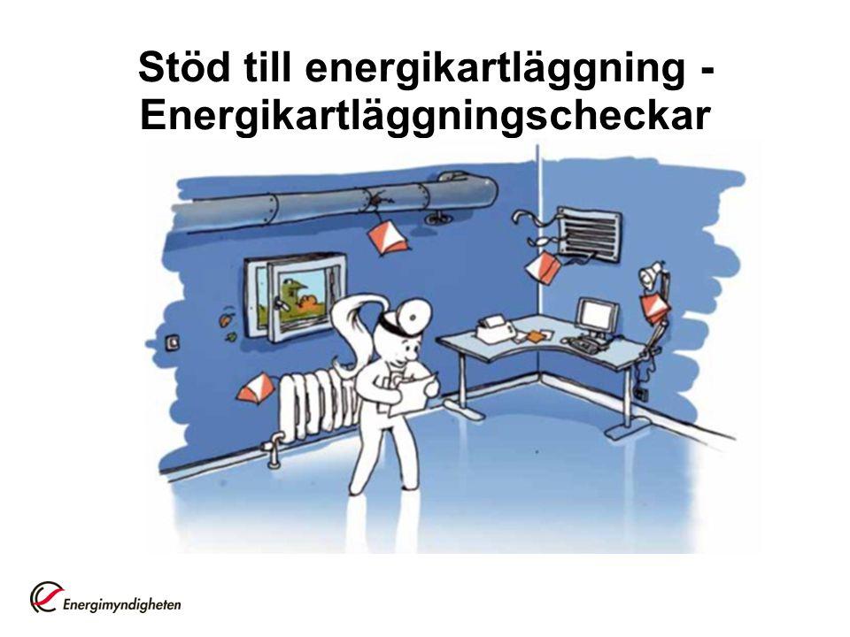 Stöd till energikartläggning -Energikartläggningscheckar