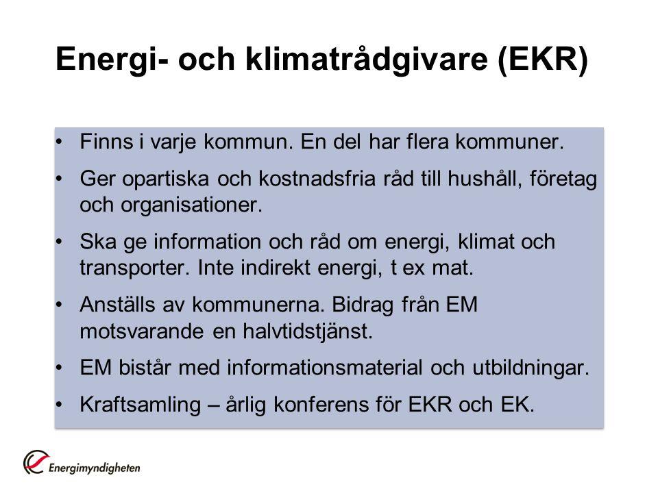 Energi- och klimatrådgivare (EKR)