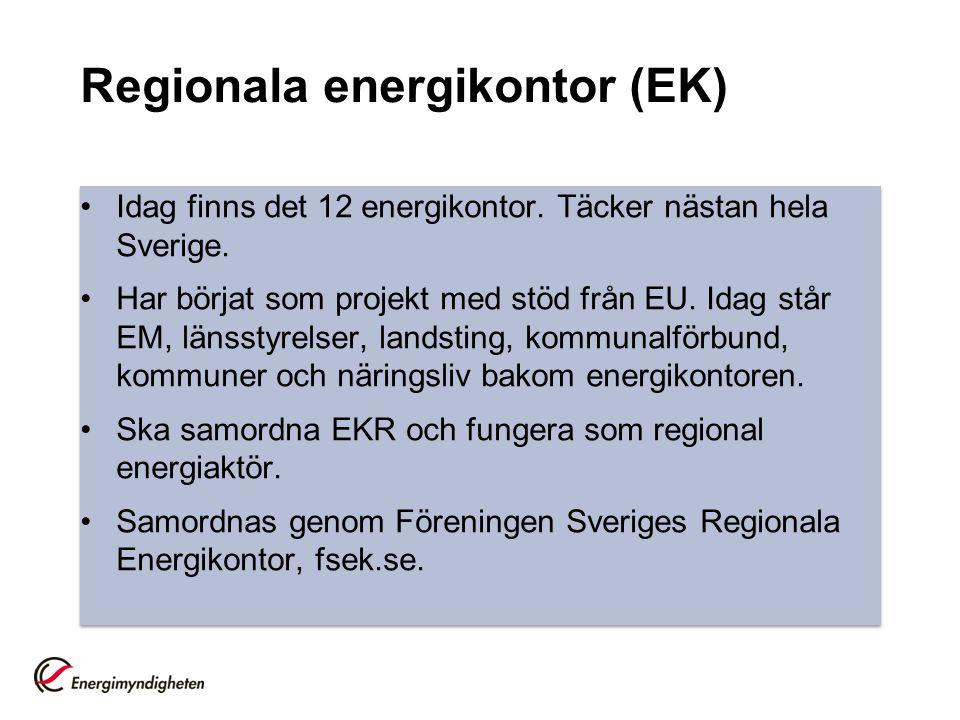 Regionala energikontor (EK)