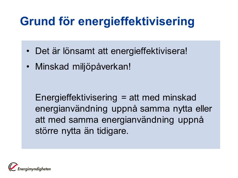 Grund för energieffektivisering